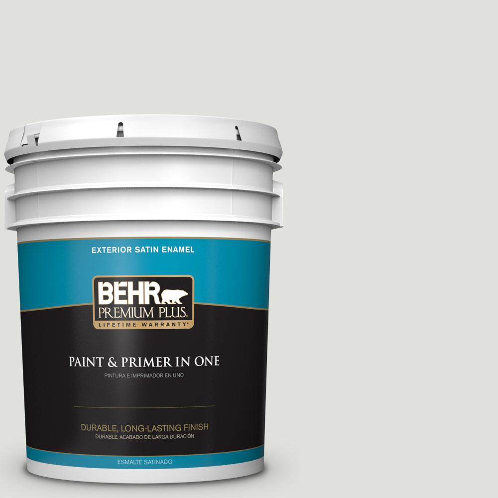 5 gal. #MQ3-45 Looking Glass Satin Enamel Exterior Paint and Primer