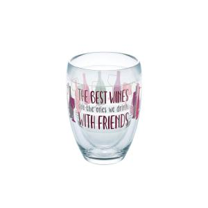 Tervis Wine With Friends 9 oz. Double-Walled Tritan Stemless Wine Glass by Tervis