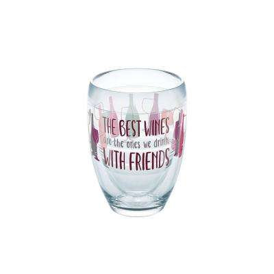 Wine With Friends 9 oz. Double-Walled Tritan Stemless Wine Glass