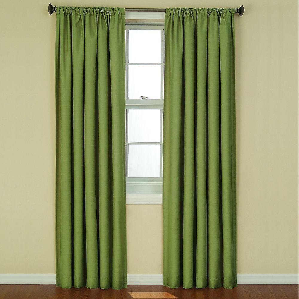 Kendall Blackout 63 in. L Curtain Panel in Artichoke