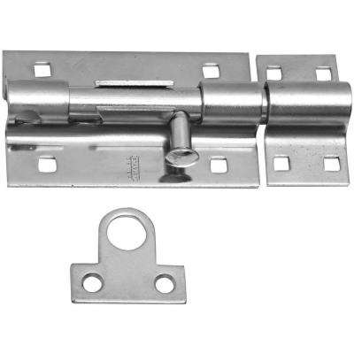 8 in. Zinc Plated Barrel Bolt with Screws