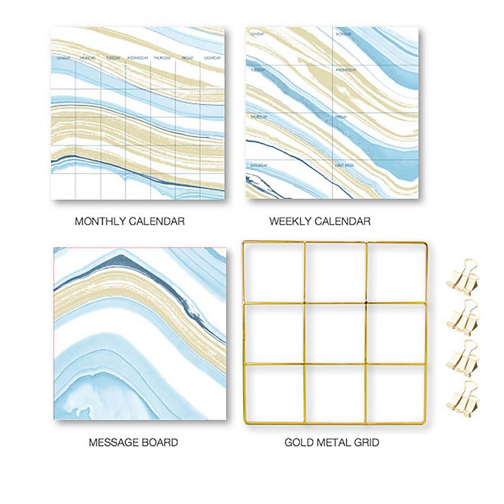 Blue Crystalline Grid Organization Kit Decal