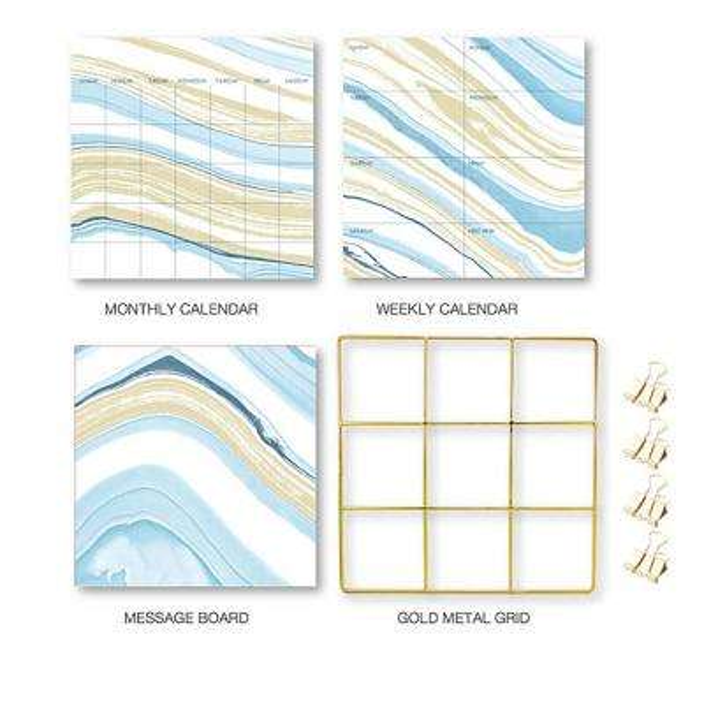 Blue Crystalline Grid Organization Kit Decal