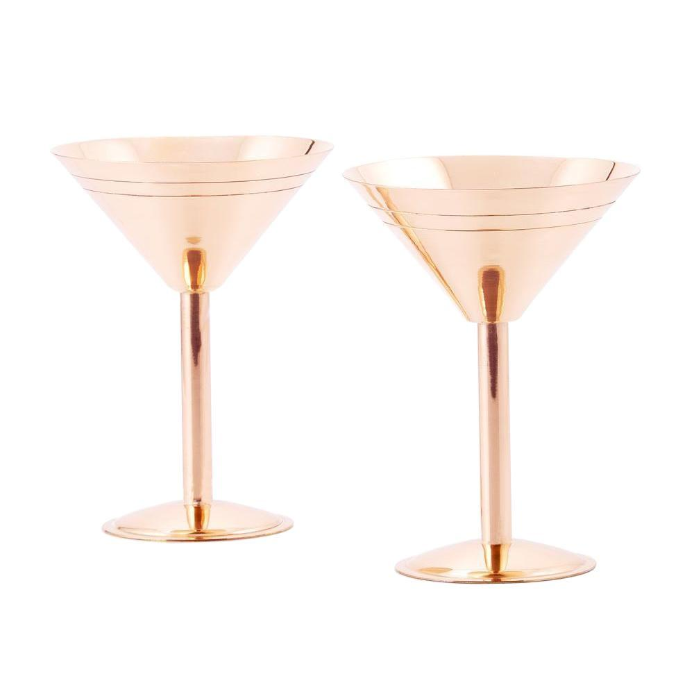 Old dutch martini glasses in solid copper set of 2 1501 for Cocktail 8 2