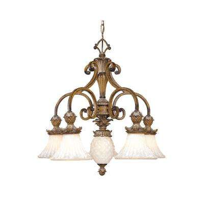 Providence 6-Light Venetian Patina Incandescent Ceiling Chandelier