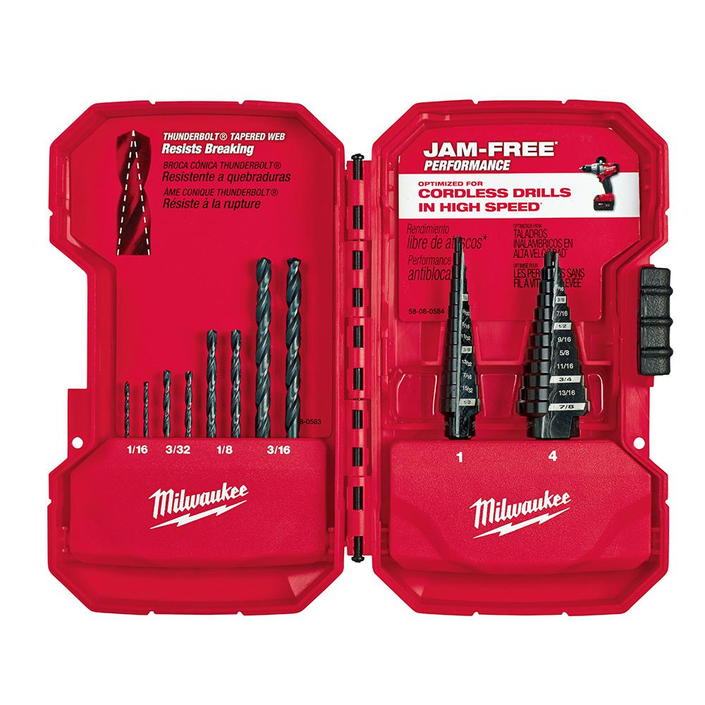 Milwaukee Step Drill Bit Kit (10-Piece)