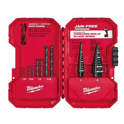 Black Oxide Step Drill Bit Set (10-Piece)