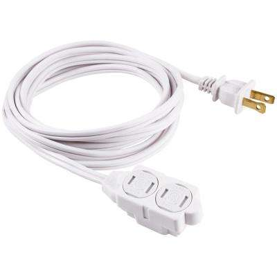 9 ft. 2-Wire 16-Gauge Polarized Indoor Extension Cord, White