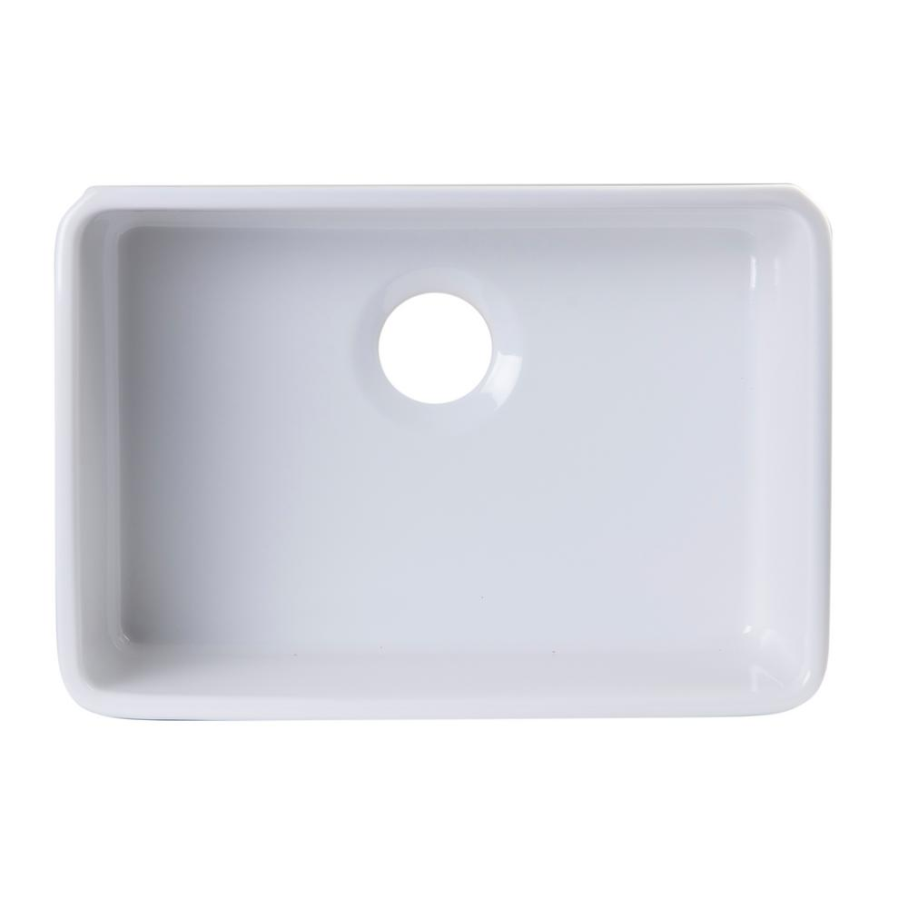 Alfi brand undermount fireclay in l single bowl for German kitchen sink brands