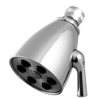 2-Spray 2.3 in. Single Wall Mount Fixed Adjustable Shower Head in Polished Chrome
