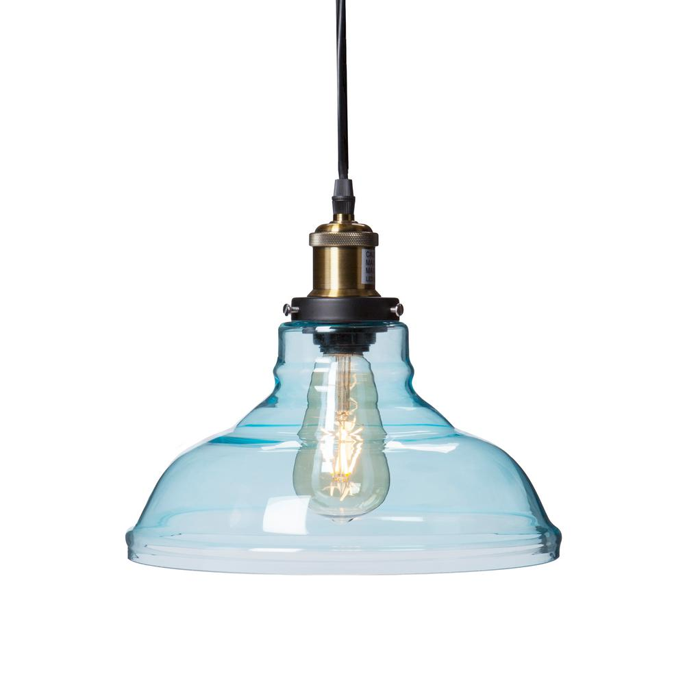 Witten 1 light soft aqua colored glass pendant lamp hd88265 the witten 1 light soft aqua colored glass pendant lamp mozeypictures