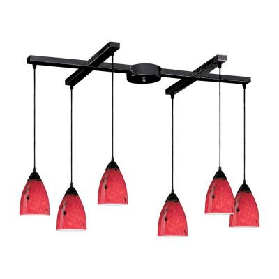 Classico 6-Light Dark Rust Ceiling Mount Pendant