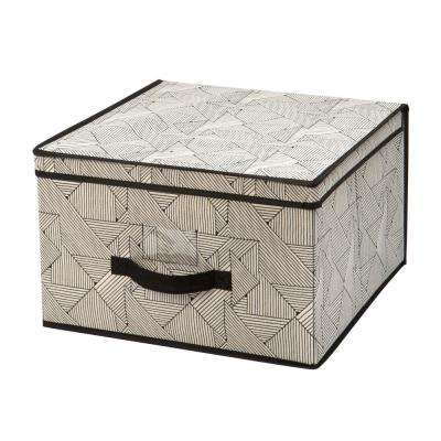 16 in. x 16 in. x 10 in. Geo Natural Jumbo Storage Box