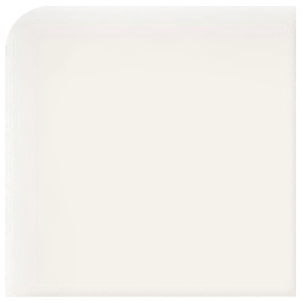 Semi-Gloss Arctic White 2 in. x 2 in. Ceramic Bullnose Outcorner