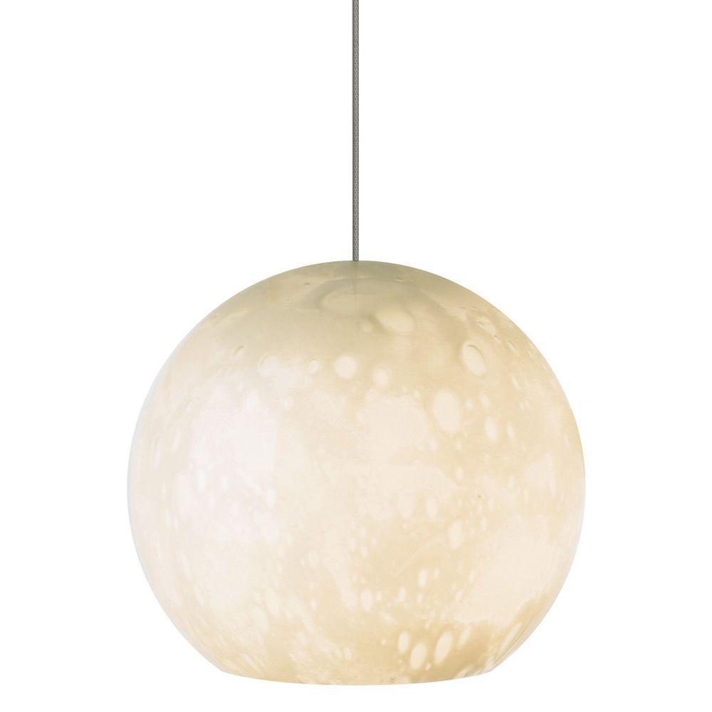 LBL Lighting Aquarii 1-Light Bronze Ivory Xenon Hanging Mini Pendant