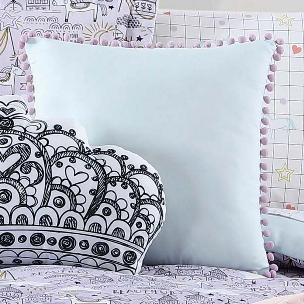 Kids Unicorn Princess Pom Pom Pillow