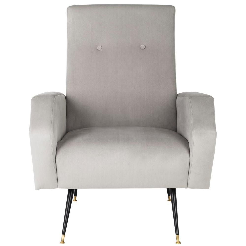 Safavieh Aida Gray Accent Chair FOX6258B
