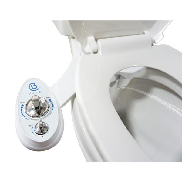 Unbranded Non Electric Luxury Toilet Bidet Attachment Water Sprayer Dual Nozzle White And Blue Boss Bidet Luxury White The Home Depot