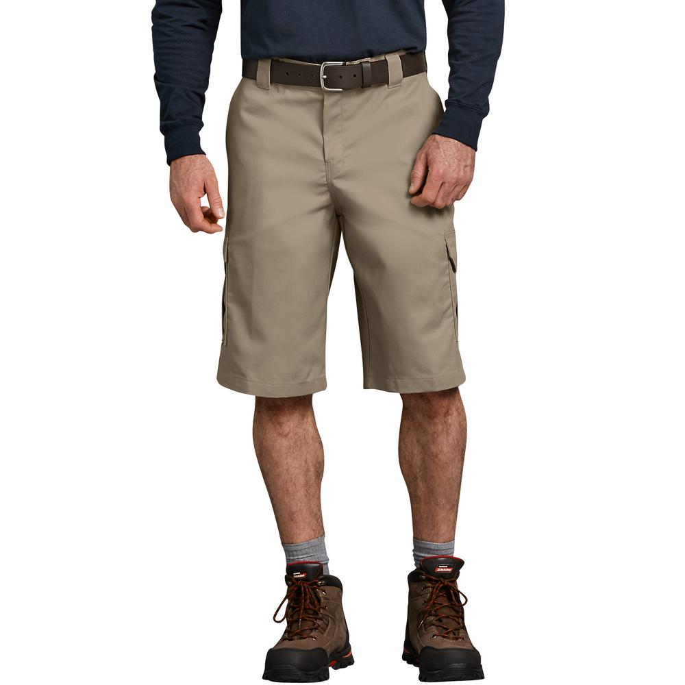 f31188855d Dickies Men's Desert Sand Flex 13 in. Relaxed Fit Cargo Short ...