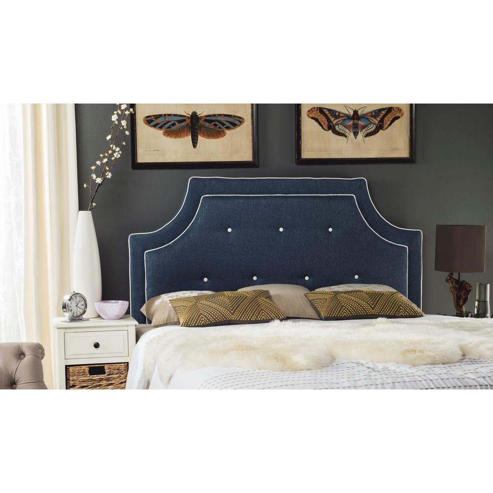 Safavieh Tallulah Denim Blue and White Queen Headboard-MCR4045D-Q - The  Home Depot