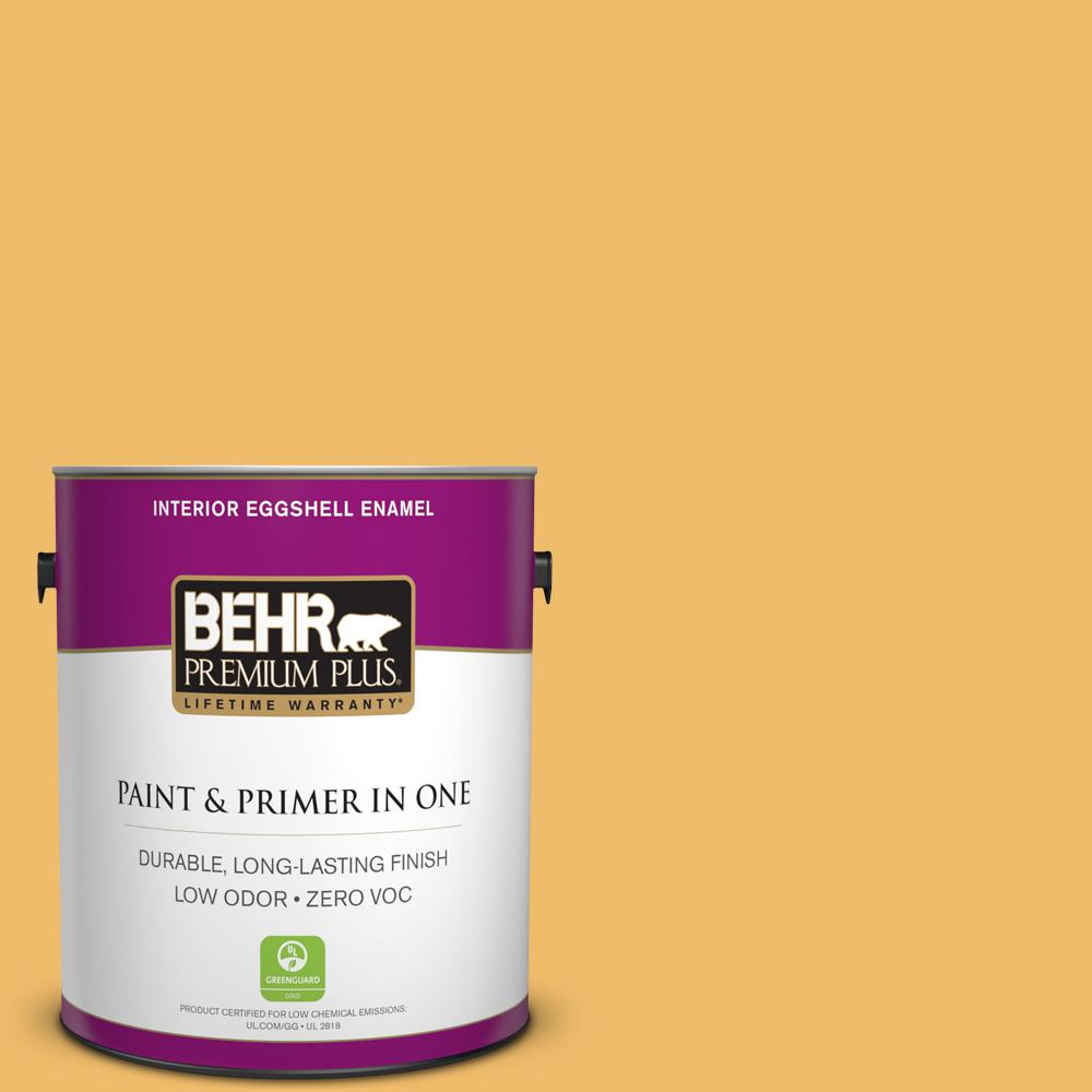 BEHR Premium Plus Home Decorators Collection 1-gal. #HDC-MD-24 Luscious Lemon Zero VOC Eggshell Enamel Interior Paint