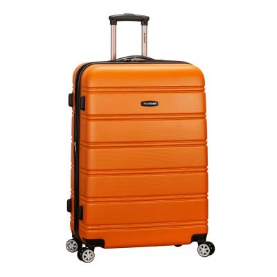 Melbourne 28 in. Orange Expandable Hardside Dual Wheel Spinner Luggage