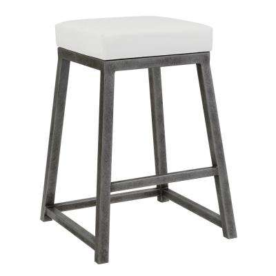 Haley 26 in. Aspen Pure White Backless Bar Stool