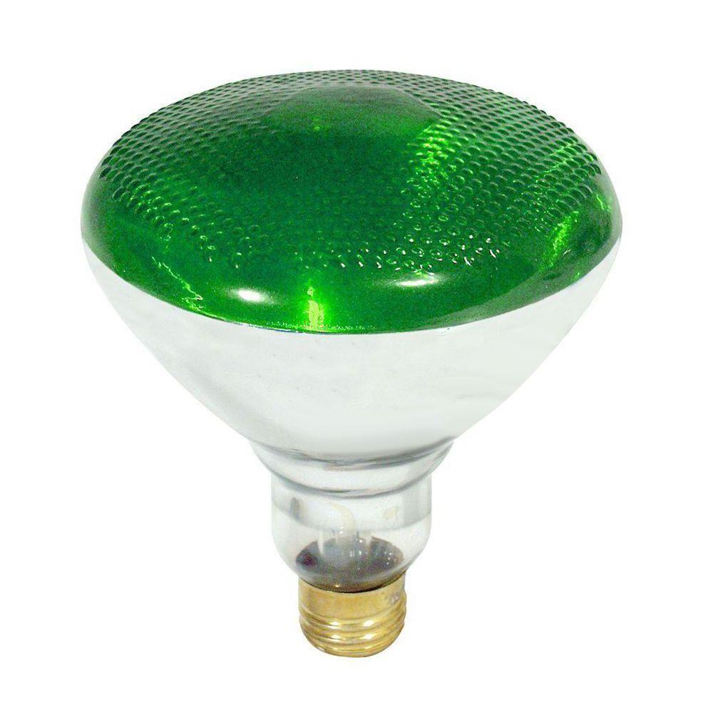100-Watt Incandescent PAR38 Green Light Bulb (12-Pack)
