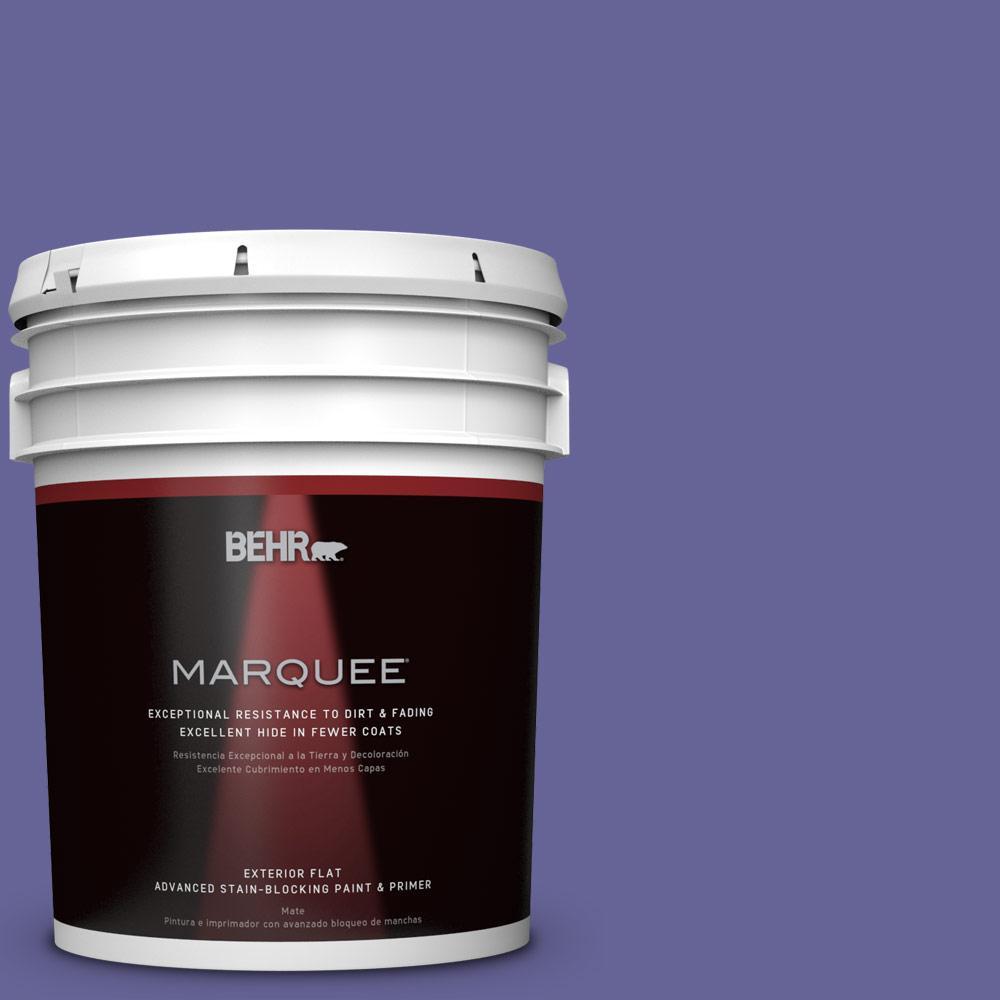 5 gal. #T15-13 Prime Purple Flat Exterior Paint