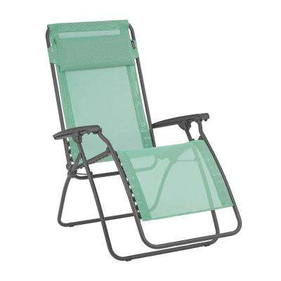 R Clip With Steel Frame Folding Zero Gravity Reclining Lawn Chair