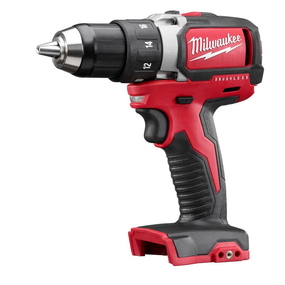 Milwaukee M18 18-Volt Lithium-Ion Brushless Cordless 1/2 in. Compact Drill/Driver (Tool-Only)
