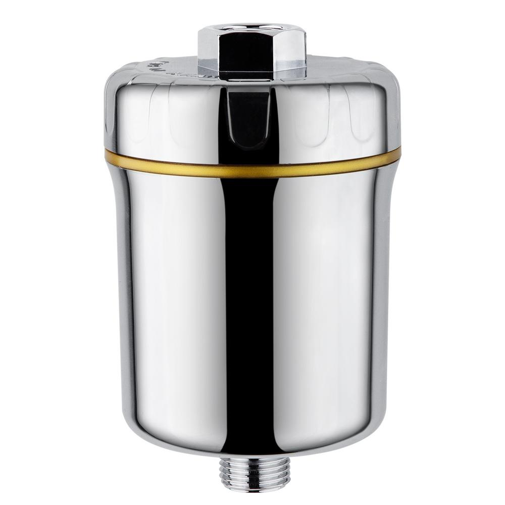 ISPRING Stylish 5-Stage Shower Filter, Silver