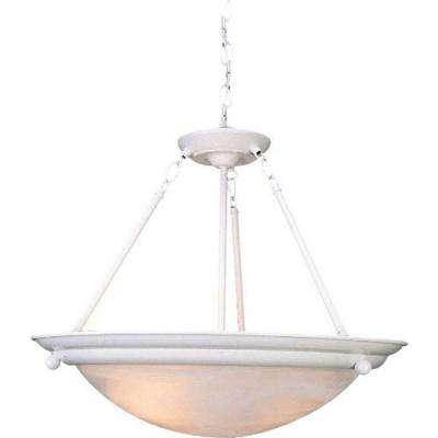 Lunar 3-Light Textured White Interior Pendant