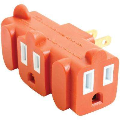 3-Outlet Heavy-Duty Grounding Adapter