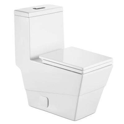 New Style Double Flush 1 Piece 0.8 / 1.28 GPF White Double pumping Square Toilet With Chair