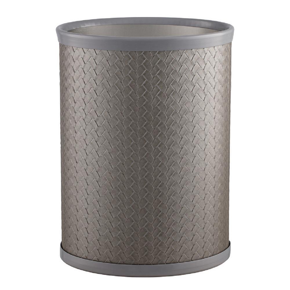 San Remo 13 Qt. Silver Oval Waste Basket