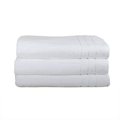 3-Piece Bamboo Hand Towel Set in White