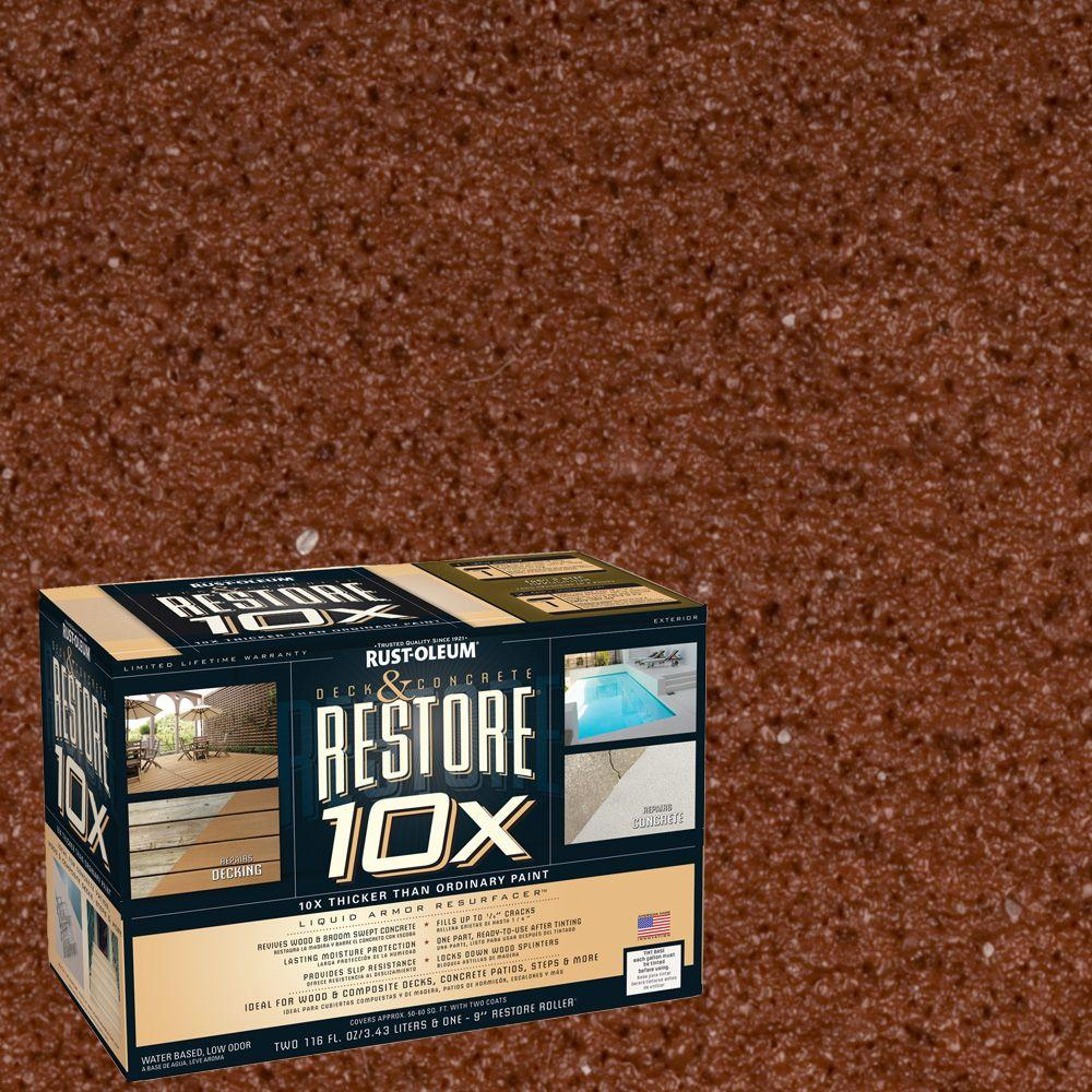 Rust-Oleum Restore 2-gal. Navajo Red Deck and Concrete 10X Resurfacer