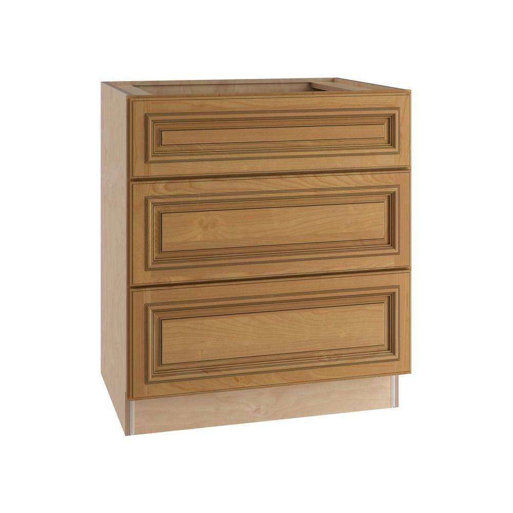 24x34.5x24 in. Clevedon Assembled Base Drawer Cabinet with 3 Drawers in