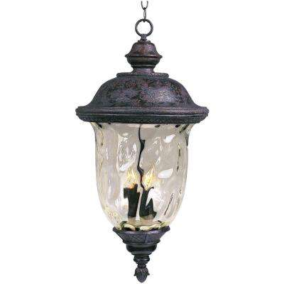 Carriage House Die Cast 3-Light Oil-Rubbed Bronze Outdoor Hanging Lantern