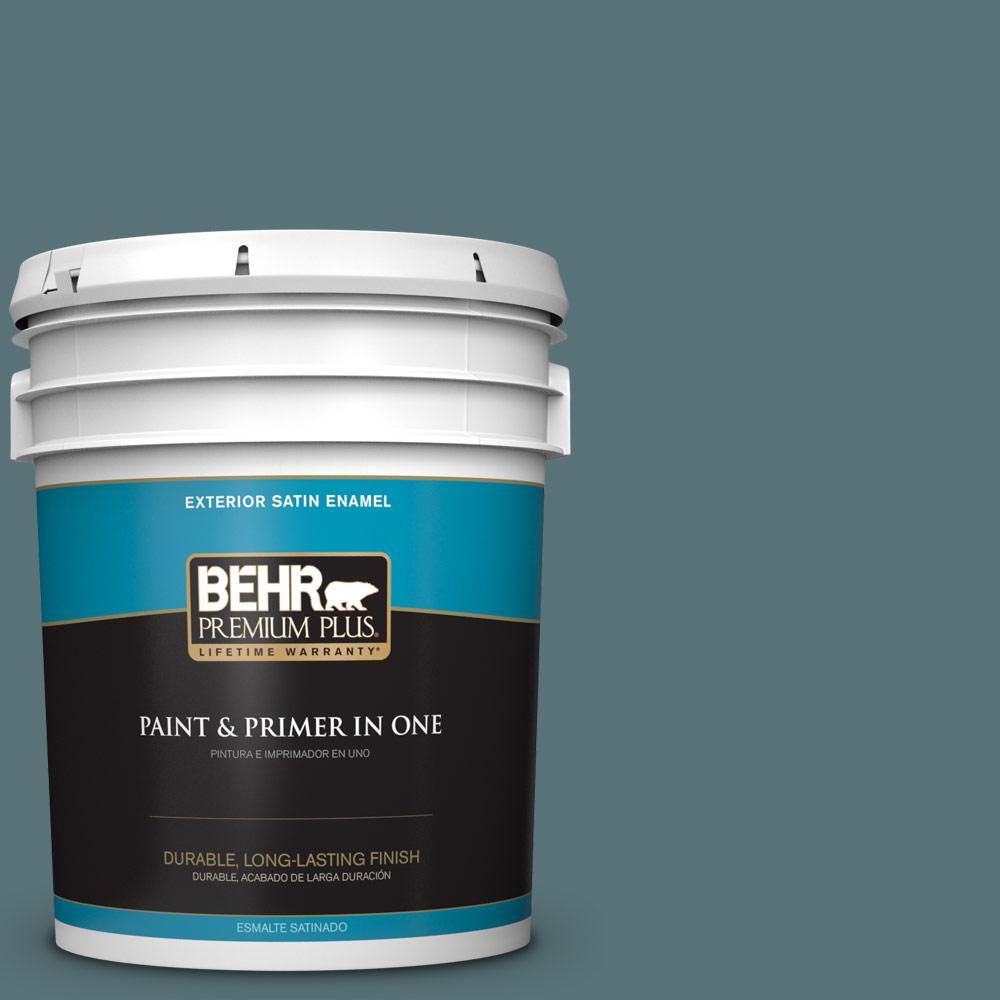 5 gal. #PPU13-02 Juniper Berries Satin Enamel Exterior Paint