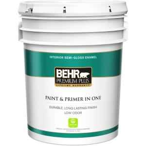 Ultra Pure White Semi Gloss Enamel Low Odor Interior Paint And Primer