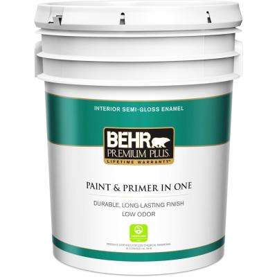 5 Gal Ultra Pure White Semi Gloss Enamel Low Odor Interior Paint And Primer