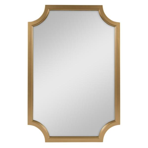 Kate And Laurel Medium Irregular Gold Contemporary Mirror 36 In H X 24 In W 213996 The Home Depot