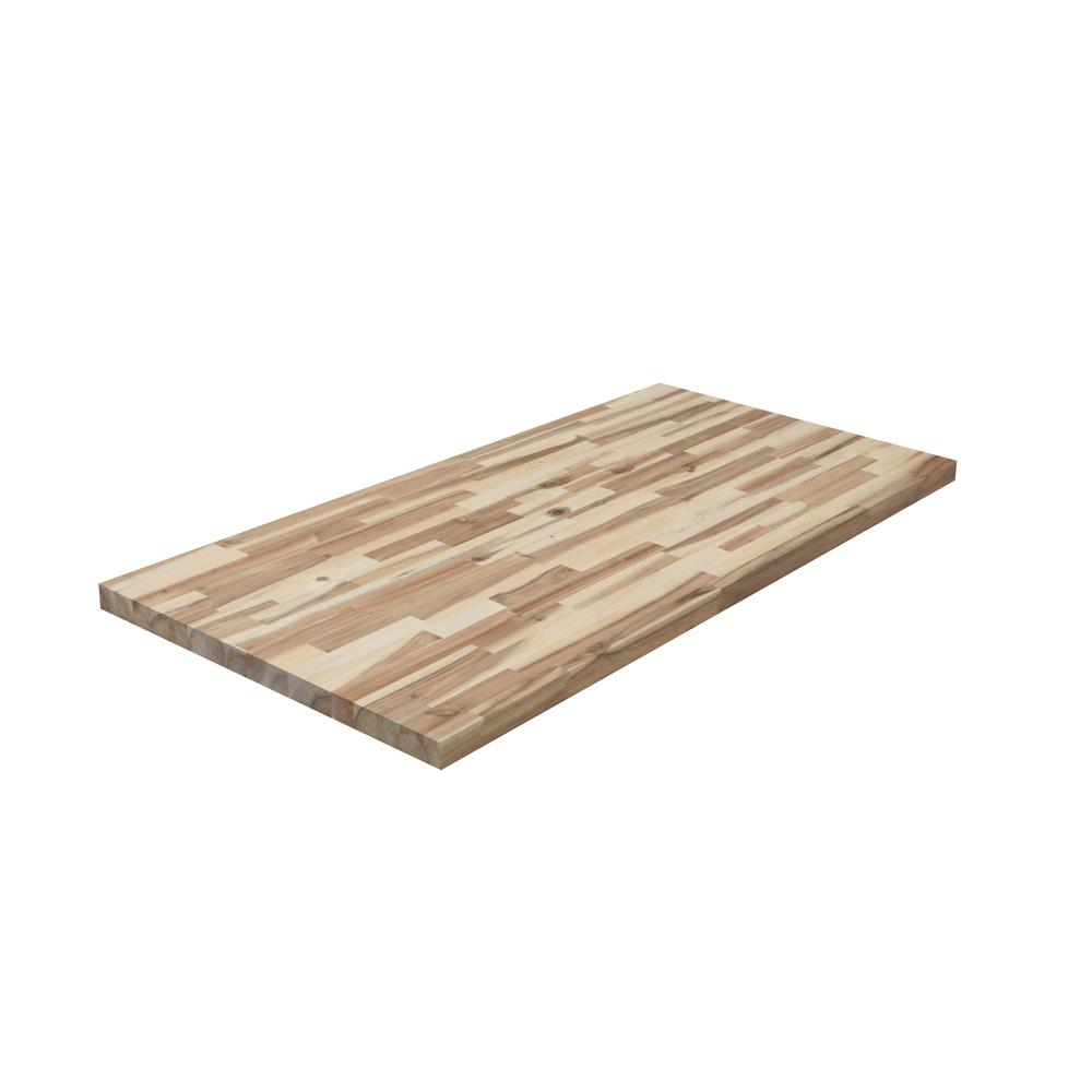Hampton Bay 4 ft. 2 in. L x 2 ft. 1 in. D x 1.5 in. T Butcher Block Countertop in Unfinished Acacia Wood