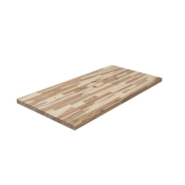 Unfinished Acacia 4 ft. L x 26 in. D x 1.5 in. T Butcher Block Countertop