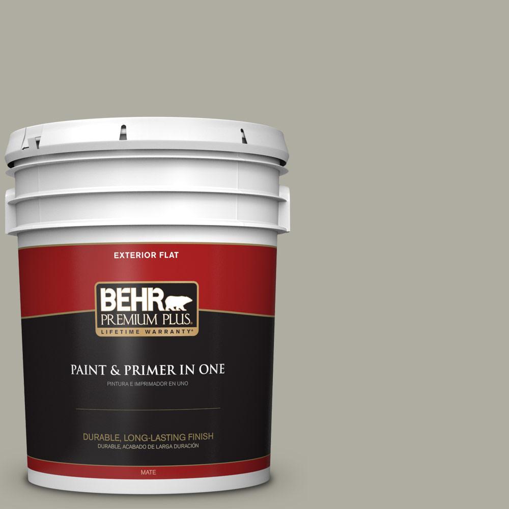 5 gal. #PPU25-06 Wells Gray Flat Exterior Paint
