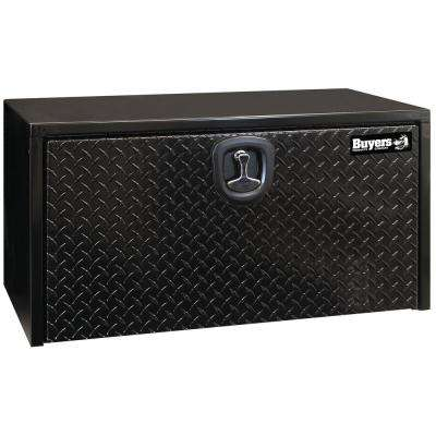 48 in. Black Steel Underbody Tool Box with Aluminum Diamond Tread Door