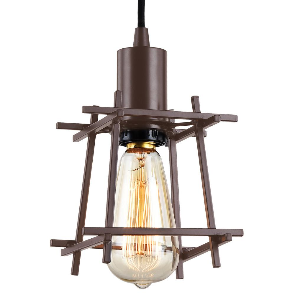 Varaluz Hashtag 1 Light 5 W Mini Pendant New Bronze Finish