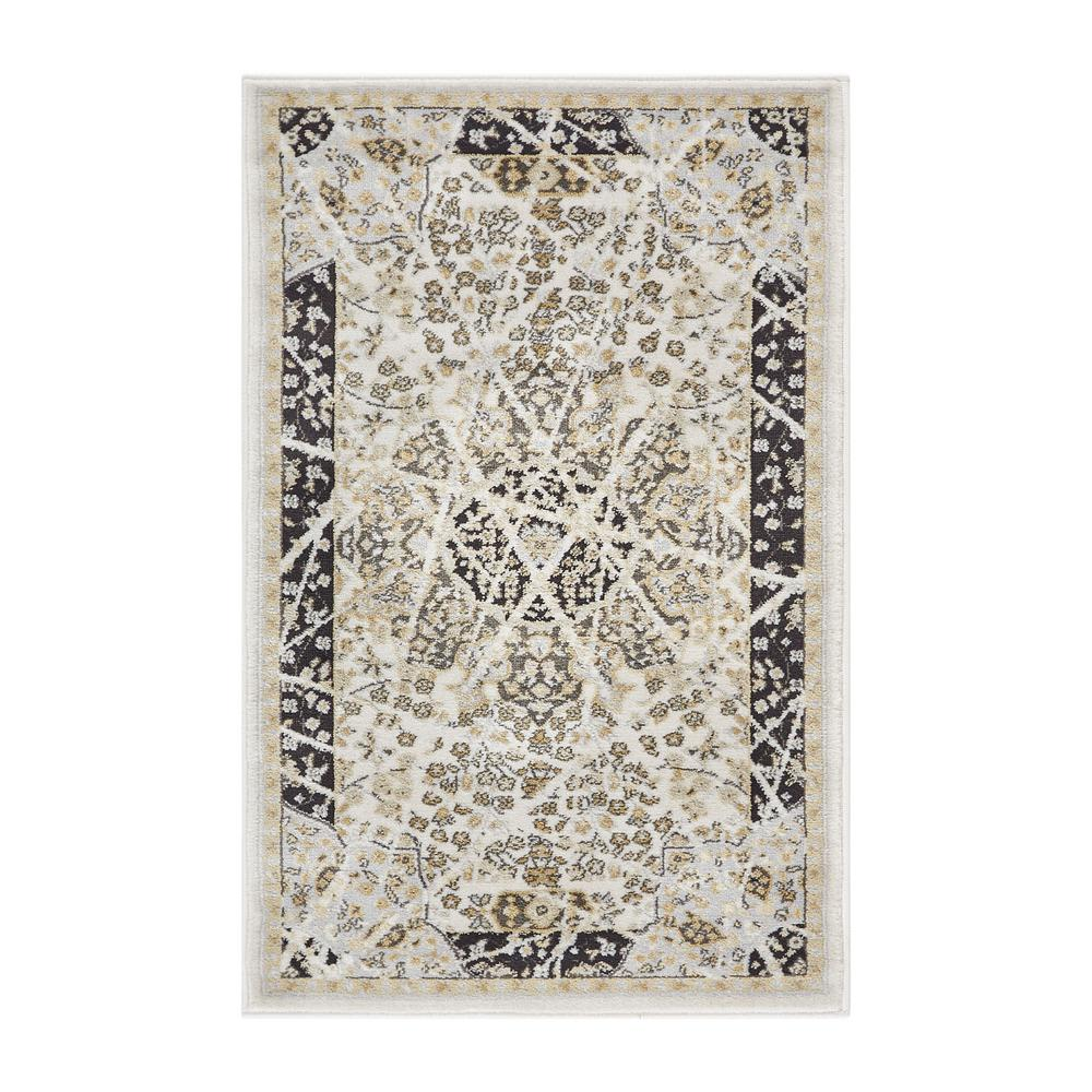 Well Woven Hughes Marco 2 ft. x 4 ft. Traditional Vintage Distressed ...